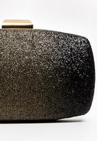 BLACKCHERRY - Glitter Clutch Bag Black