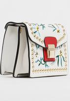 All Heart - Floral Embroidered Bag White