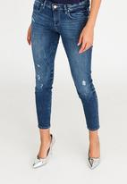 GUESS - Guess Marilyn 3 Zip Skinny Jeans Blue