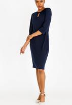 edit - 3/4 Sleeve tunic dress - navy