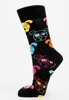 Happy Socks - Dog socks - black/multi