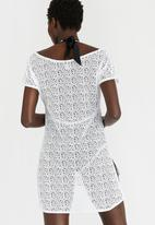 656bf3cf9ed8 Crochet Swim Cover-up White Sissy Boy Kaftans & Cover Ups ...