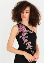AX Paris - Floral Embroidered Maxi Dress Black