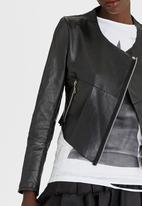 Vintage Zionist - Leather Core Style Jacket Black