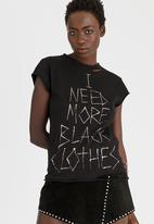 Vintage Zionist - I Need More Black Clothes Tee Black