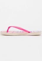 Havaianas - Kids slim fashion sandals - beige & pink