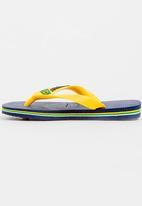 Havaianas - Brazil logo flip flops - navy/yellow