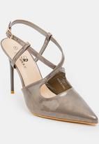 STYLE REPUBLIC - Cross strap stiletto - grey