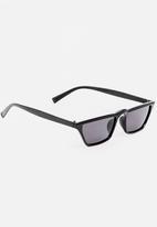 STYLE REPUBLIC - Slim Rectangle Sunglasses Black