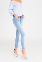 Sissy Boy - Axel Mid Rise Skinny with Bling Profile Pale Blue