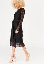 Marique Yssel - Judy Lace Shift Dress Black