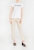 edit Maternity - Cropped Work Pants Stone