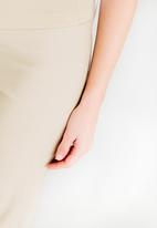 edit Maternity - Cropped Work Pants Stone