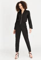 STYLE REPUBLIC - Sleeve Detail Jumpsuit Black