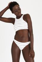 Roxy - Pencil Line Crop Bikini Top Cream