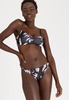 Roxy - Love Letter Strappy Surfer Bikini Bottom Black
