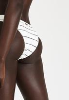 Roxy - Pencil Line Surfer Bikini Bottoms Cream