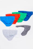 MINOTI - 7 Pack Briefs with Branded Badge Multi-colour