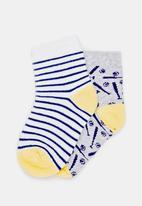 MINOTI - 2 Pack Baseball detail Ankle Socks Multi-colour