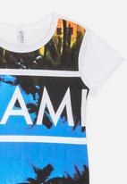 Twin Clothing - Miami Printed T-shirt White