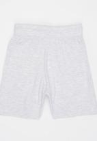POP CANDY - Printed shorts with drawstring - grey