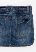 POP CANDY - Denim skirt with pockets - blue