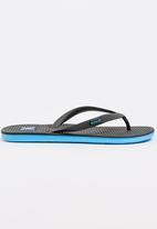f764f4a774d7 One Shot Sandal Black and Blue Hurley Sandals   Flip Flops ...