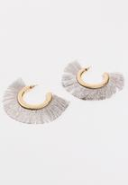 Joy Collectables - Fringe Earrings Grey