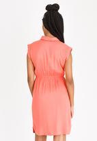 JEEP - Sleeveless Shirt Dress Coral