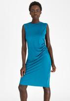 edit - Smart Dress with Side Detail Dark Green