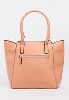 BLACKCHERRY - Detail Stitch Shoulder Bag Mid Pink