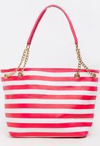 BLACKCHERRY - Striped Shoulder Bag Multi-colour