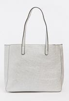 BLACKCHERRY - Metallic Shopper Bag Silver