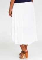 edit Maternity - Hi-Low Skirt White