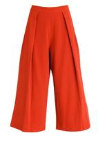 STYLE REPUBLIC - Cropped Fold Over Pants Rust