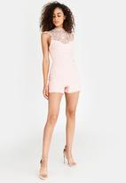 Sissy Boy - Jumpsuit with Lace Detail Rose
