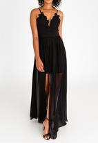 Sissy Boy - Lace Detail Maxi Dress Black