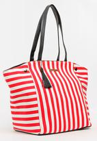 BLACKCHERRY - Striped Shoulder Bag Multi-colour