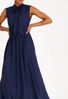 edit - Maxi Dress with Kitty Bow Ties Navy