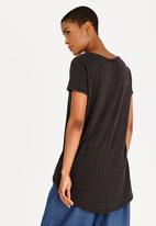 edit - V Neckline Tunic Charcoal