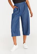 edit - Cropped Wide Leg Pants Dark Blue
