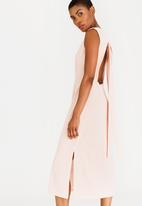 STYLE REPUBLIC - Back Tie Dress Pale Pink