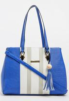 BLACKCHERRY - Colour Block Tote Bag Cobalt