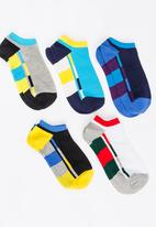 STYLE REPUBLIC - Colour Block 5 Pack Socks Multi-colour