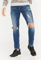Only & Sons - Slim knee rip jeans - blue