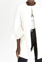 STYLE REPUBLIC - Frill Sleeve Coat Off White