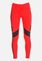Reebok - Reebok Lux Colour Block Leggings Red