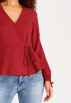 Sissy Boy - Wrap Blouse Red