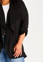 edit Plus - Lightweight Trench-style Jacket Black
