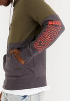 Jack & Jones - Baak Sweat Hood Khaki Green